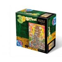 3D EFECT PUZZLE 500 PIESE CARTOON