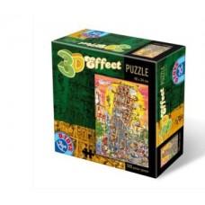 3D EFECT PUZZLE 500 PIESE CARTOON
