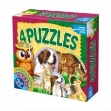 4 PUZZLE- ANIMALE DOMESTICE