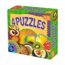 4 PUZZLE- FRUCTE EXOTICE