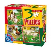 3 PUZZLE- ANIMALE DOMESTICE SI SALBATICE 01