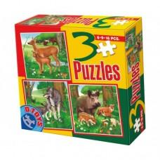 3 PUZZLE- ANIMALE DOMESTICE SI SALBATICE 03