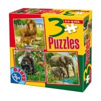 3 PUZZLE- ANIMALE DOMESTICE SI SALBATICE 04