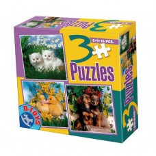 3 PUZZLE- ANIMALE DOMESTICE FOTO 01